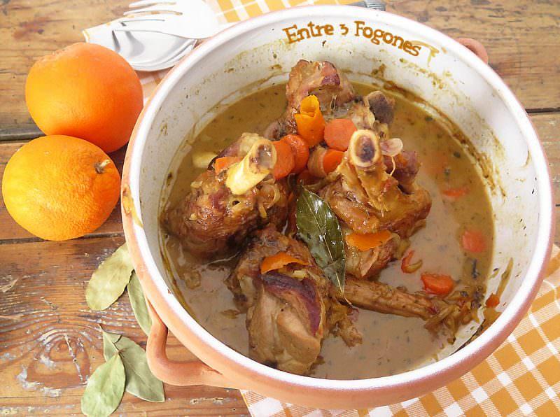 Receta Tajine de Cordero con Naranja al Azafrán