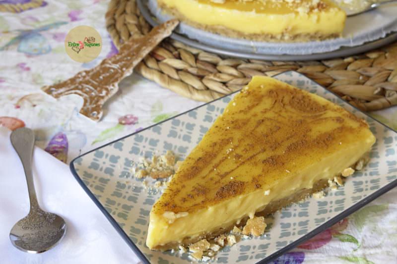 Receta Tarta París de Galletas Napolitanas y Flan