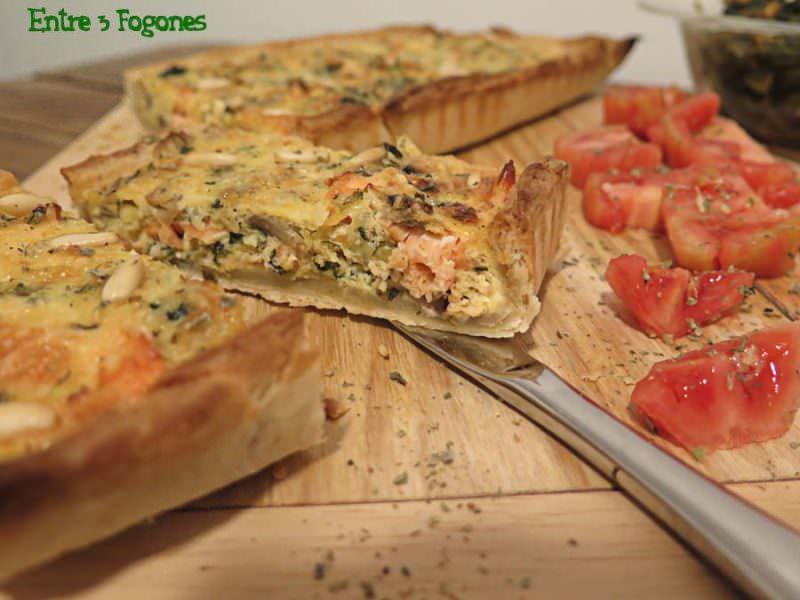 Receta Tarta de Hojaldre con Salmón y Espinacas