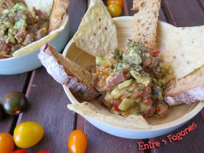 Receta Tuna Tartare con Guacamole