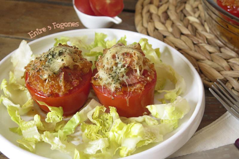 Receta Tomates de Quinoa y Lacón
