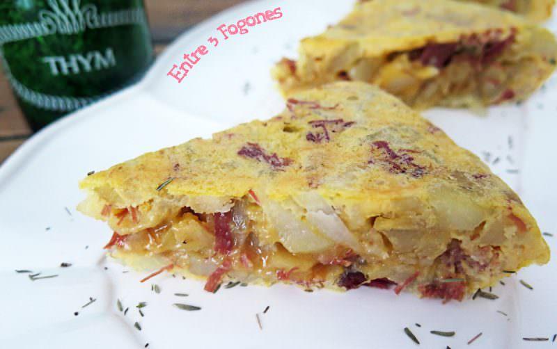 Receta Tortilla de Patatas con Confit de Pato