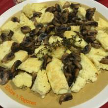 Receta Tortilla de Puré de Patatas con Champiñones
