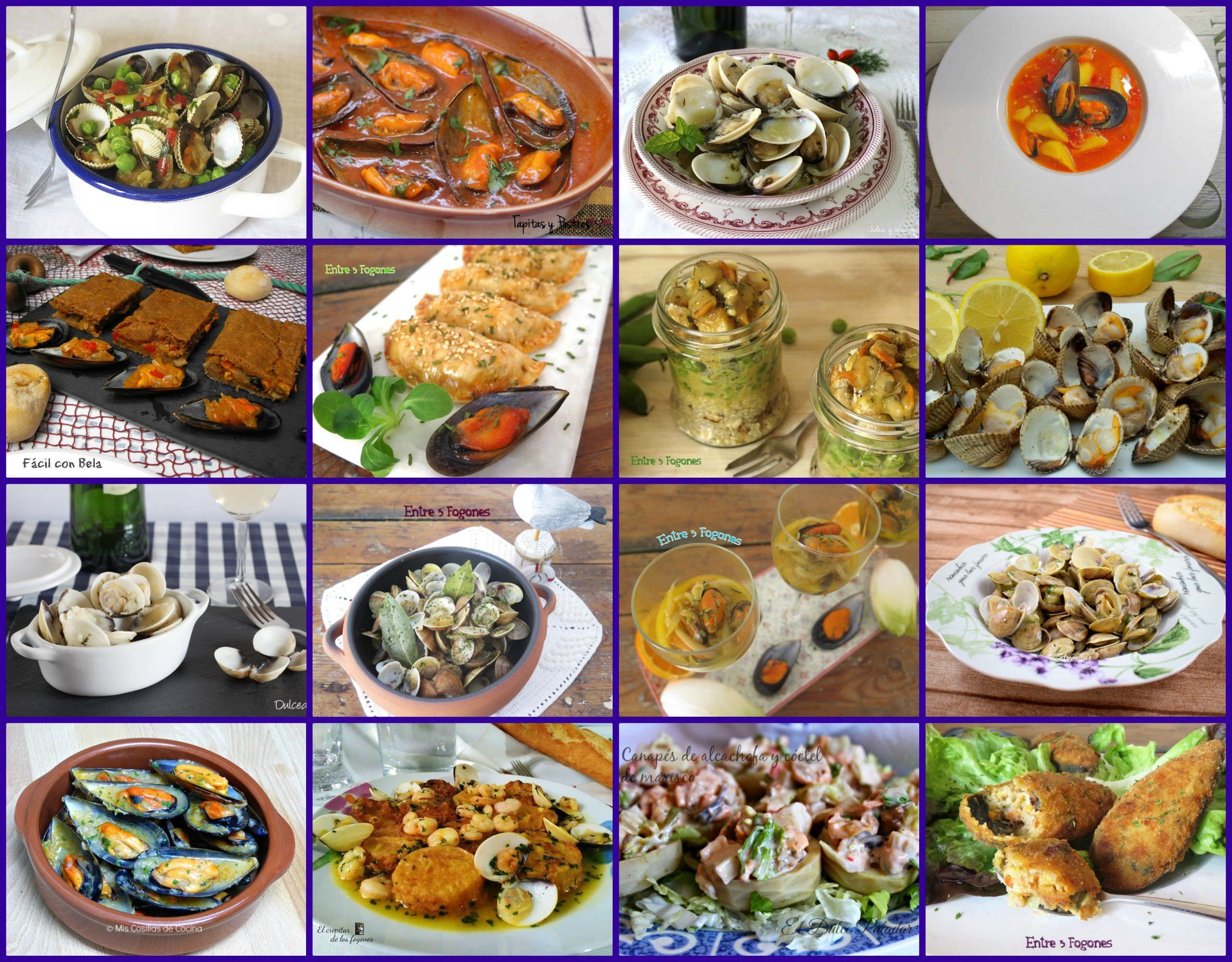 Recetas con Mejillones, Almejas y Berberechos