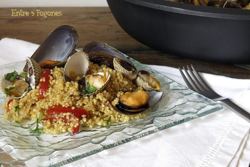 Receta Risotto de Quinoa con Berberechos y Mejillones