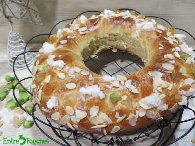 Roscón de Reyes con Fruta Deshidratada