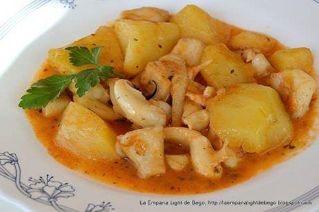 Sepia Guisada con Patatas