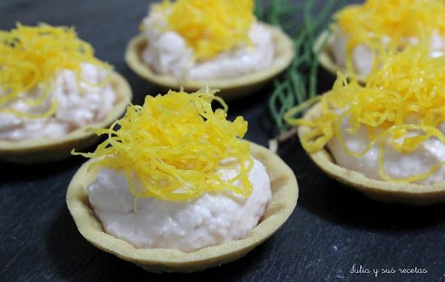 Tartaletas de Huevo Hilado