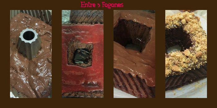 Pasos Bundt Cake de Chocolate Relleno de Mermelada