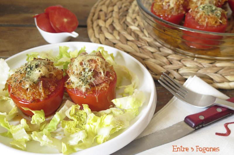 Tomates Rellenos de Quinoa y Lacón