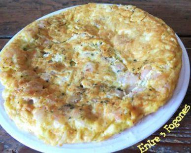 Tortilla de Gambas con Queso y Mollitas de Lenguado