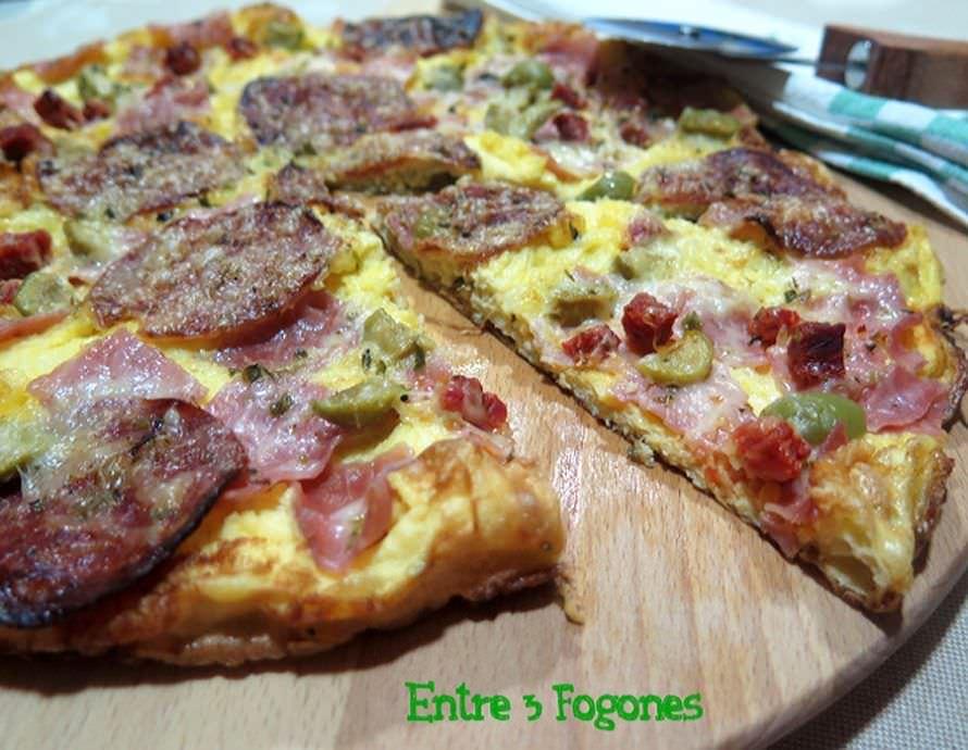 Tortilla Pizza con Embutido