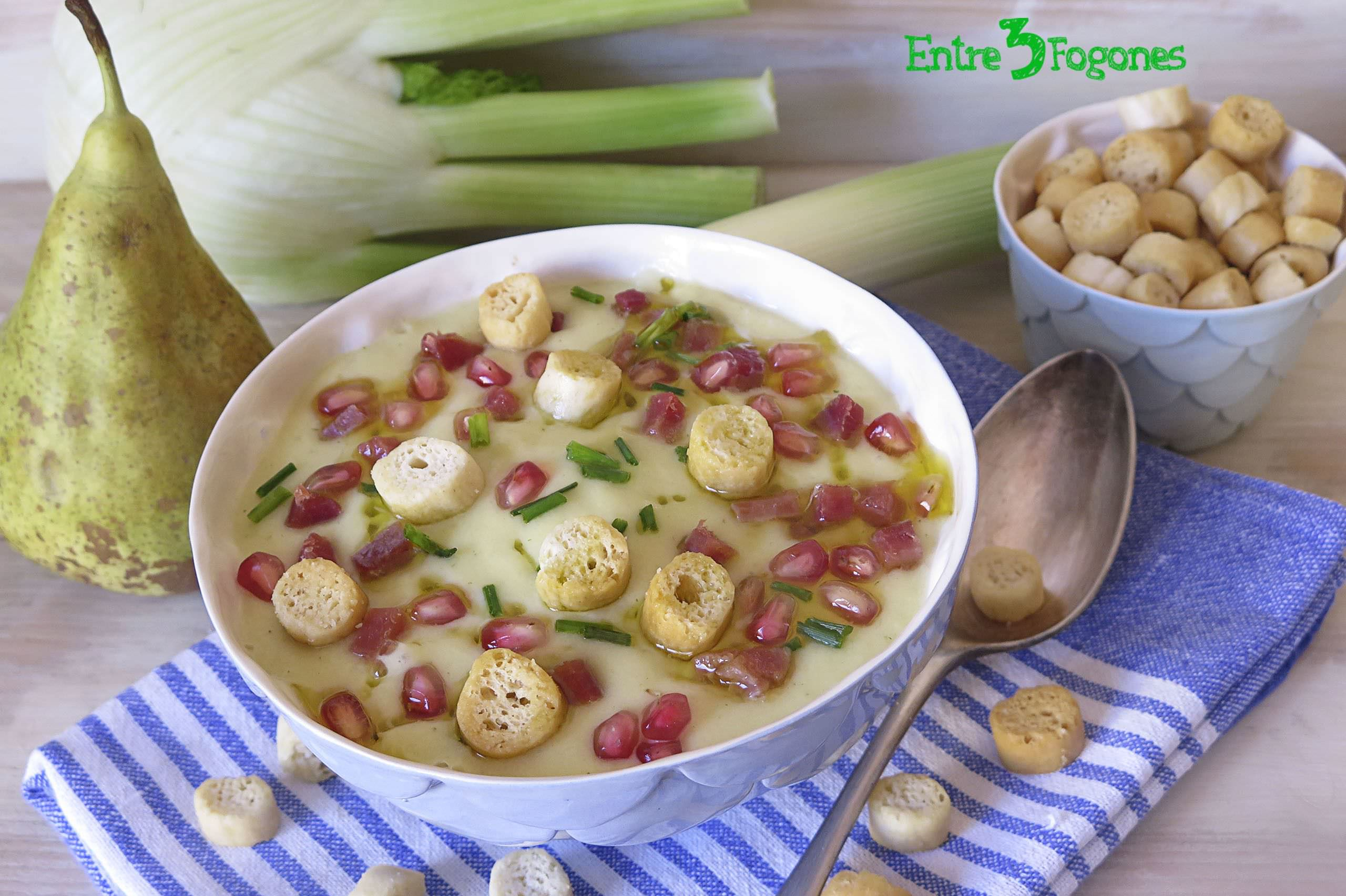 Photo of Vichyssoise con Pera y Leche de Coco