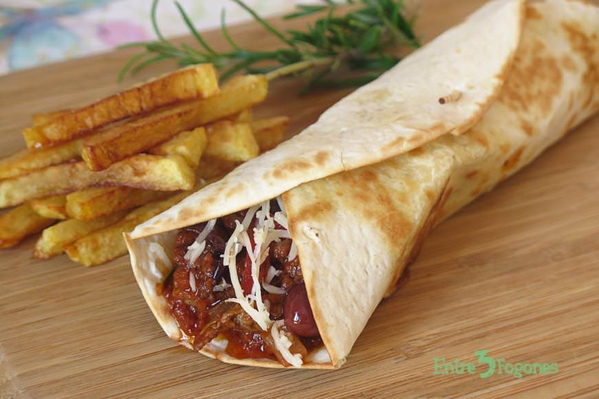 Wraps de Ternera a la Italiana